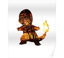 Charmander Silhouette Poster