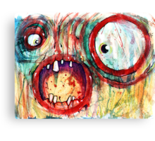 fried zombie Canvas Print