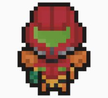Pixel Samus Aran Sticker by PixelBlock
