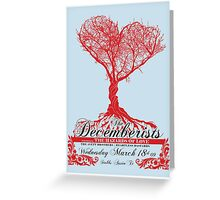 The Decemberists - Concert Poster Greeting Card