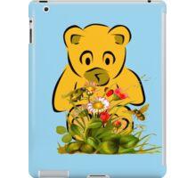 Teddy,Flowers and Bees...Tee iPad Case/Skin