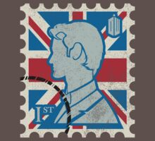 Dr. Who - UK Stamp - Distressed by DCVisualArts