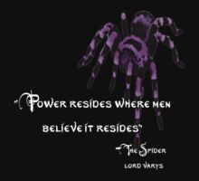 Varys The Spider - White Font by greymoon69