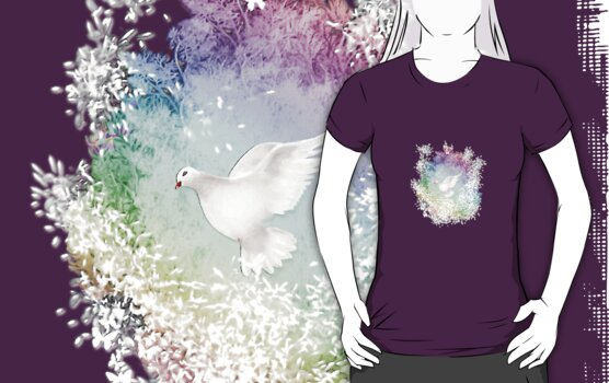 Give Peace a Chance - Friedenstaube Shirt Design by scatharis