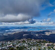 Mt. Wellington Lookout, Hobart, Tasmania by Elaine Teague