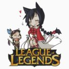 League of Legends - Ahri and Teemo (New Logo) by falcon333
