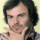Jack Black Portrait by Cazzie Cathcart