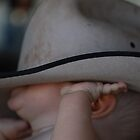 Daddy's hat is too BIG for me Mummy!! by Mel  LEE