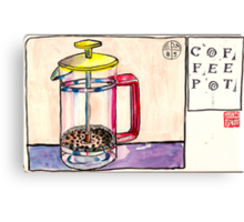 EDiM #8  draw a coffeepot Canvas Print