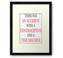 An Accident. Framed Print
