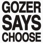 Gozer Says Choose (Basic Version) by PootanInamo