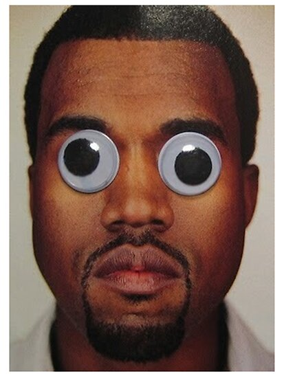 Kanye West Google Eyes T Shirt by crookiid