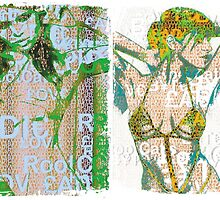 Incarnata Diptych #24 by Grimm Land