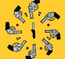 Knife To a Gun Fight Pattern [ Print / Ipad / Iphone / Ipod ] by swelldame