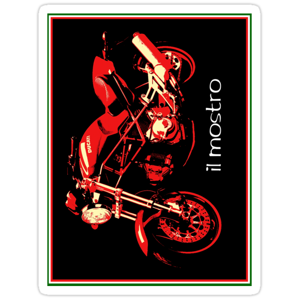Il Mostro iPhone case and sticker by Ra12
