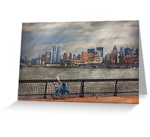 City - Hoboken, NJ - Fishing - The good life  Greeting Card