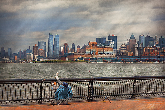 City - Hoboken, NJ - Fishing - The good life  by Mike  Savad
