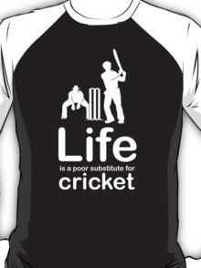 Cricket v Life - Black T-Shirt
