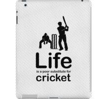 Cricket v Life - Black iPad Case/Skin