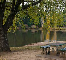 Picnic at Daylesford Lake by PhotoJoJo