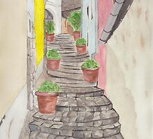 Narrow Staircase by Kendra Cook