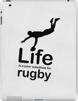 Rugby v Life - Black Graphic by Ron Marton
