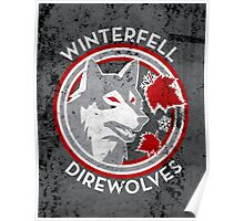 Winterfell Direwolves (Retro Distressed Variant) Poster