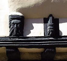 Medieval Wooden Faces by wiggyofipswich