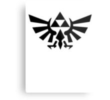 Zelda - Triforce (Black) Metal Print