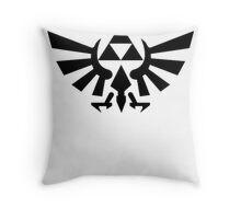 Zelda - Triforce (Black) Throw Pillow
