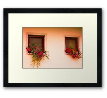 Cottage Windows Framed Print