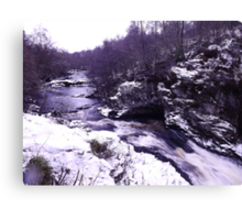 Falls of Shin Canvas Print