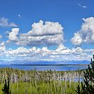 Yellowstone Lake with Duck Lake in the Foreground by RedskinzFan