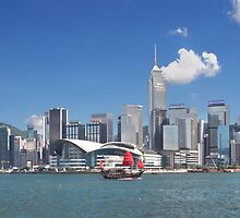 Hong Kong Island & harbour, from Kowloon by Jamie Parker
