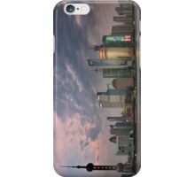 Shanghai skyline at dusk iPhone Case/Skin