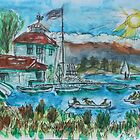 Watercolor Sketch - Shoreline Park, Mountain View, California. 2013 by Igor Pozdnyakov