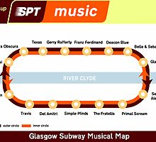 Glasgow Musical Subway Map by Mixtape