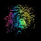 Rainbow Chimpanzee on Black by pjwuebker
