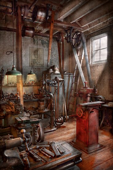 Machinist - The modern workshop  by Mike  Savad