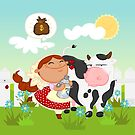 The milkmaid  by alapapaju