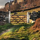 Gate at Curbar edge by Jonnyfez