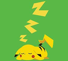 sleepy pikachu by atoprac59