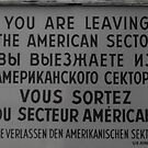 Checkpoint Charlie sign by Jarriet
