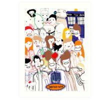 Paint Doktah Who Poster Art Print