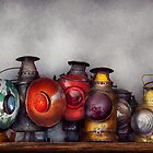 Train - A collection of Rail Road lanterns  by Mike  Savad