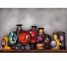 Train - A collection of Rail Road lanterns  Photographic Print