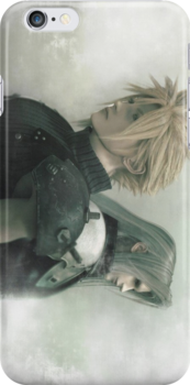 Back to Back- Final Fantasy Advent Children iPhone Case by squidkid