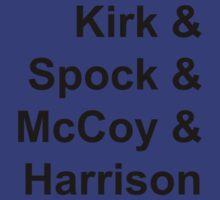 Kirk & Spock & McCoy & Harrison by artemis1701