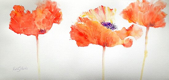 Poppy Trio by Ruth S Harris