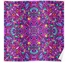 Pink and Purple Abstract Fractal Art  Poster